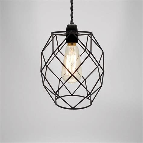 industrial retro style geometric metal wire frame ceiling