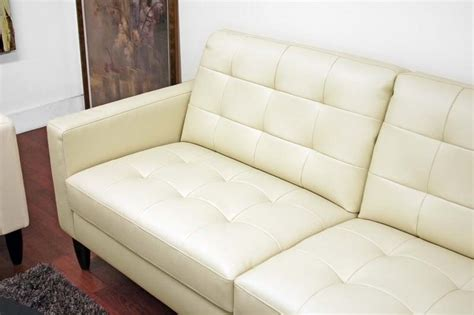 modern cream leather sofa wholesale interiors caledonia modern cream leather sofa