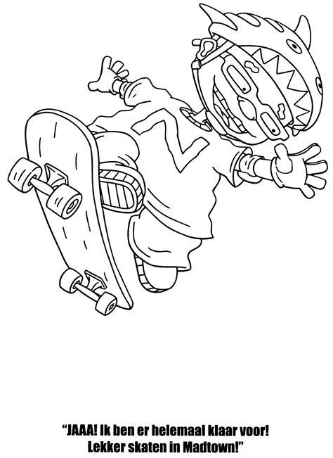 rocket power coloring pages coloringpages1001 com