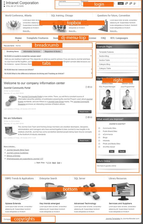 theme joomla intranet jm intranet corporation premium joomla business template