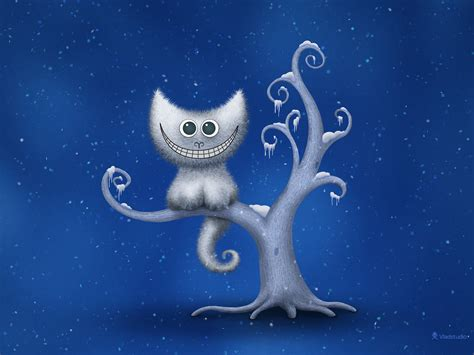 wallpaper christmas deviantart a cheshire kitten christmas by vladstudio