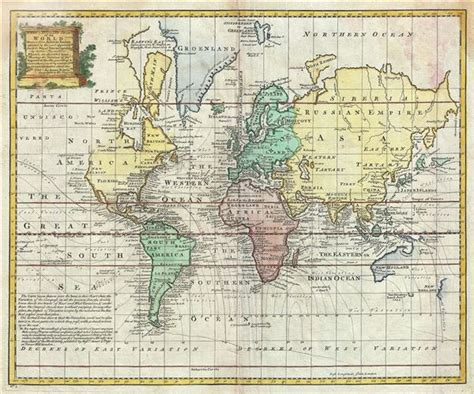 africa map 1747 a new and accurate chart of the world geographicus