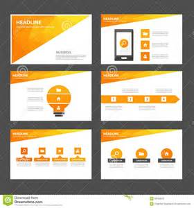 presentation design templates abstract orange yellow infographic element and icon