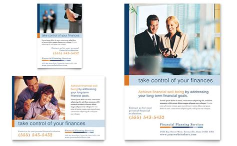 home care flyers financial planning amp consulting flyer amp ad template word