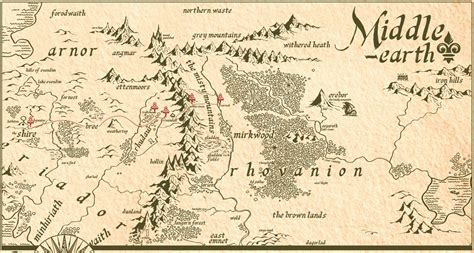printable map middle earth gallery for gt middle earth map the hobbit path middle