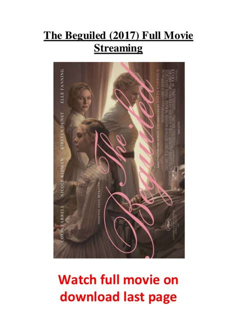 watch the beguiled 2017 full hd movie official trailer the beguiled 2017 full movie streaming