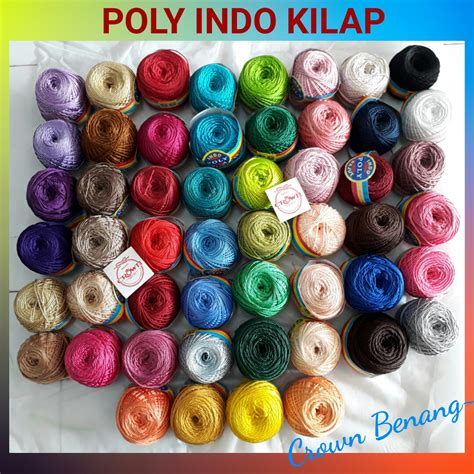 Benang Rajut Poly Indo 25 1 crown toko benang yarns supplier