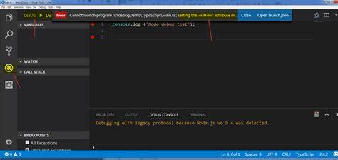 javascript glob pattern how to debug node typescript in visual studio code when