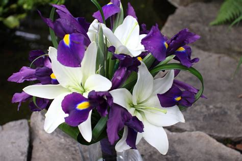 Wedding Bouquet Iris by Lavender And Purple Wedding Bouquets Bb0325 White