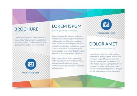editable brochure templates free free tri fold brochure vector template free