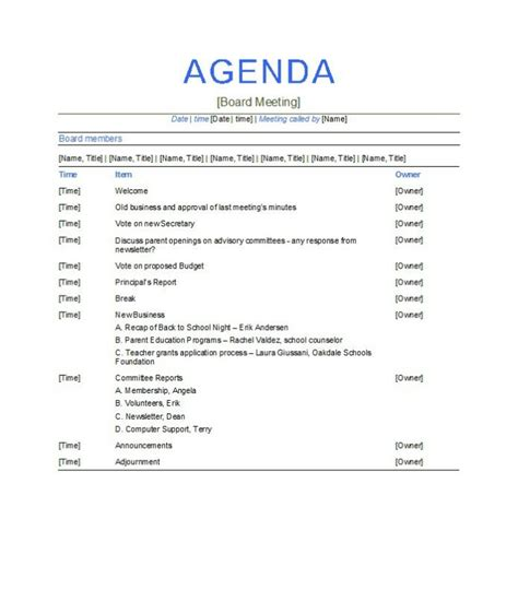 agenda template docs meeting agenda template doc word excel calendar template