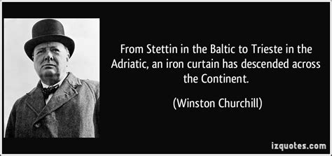 winston churchill iron curtain speech meaning from stettin in the baltic to trieste in the adriatic an