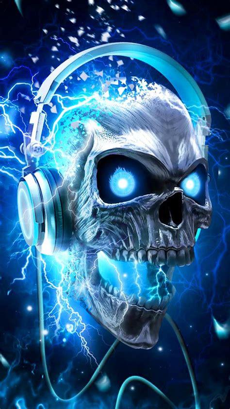technology thunder dj skull theme skull wallpaper skull