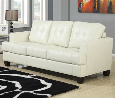samuel cream bonded leather living room couch and loveseat samuel cream bonded leather sofa sleeper sofa beds coa