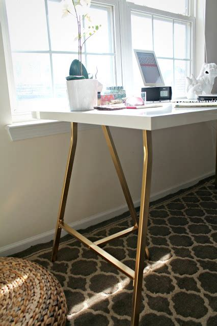 ikea legs hack my style republic ikea hack white table top with gold legs