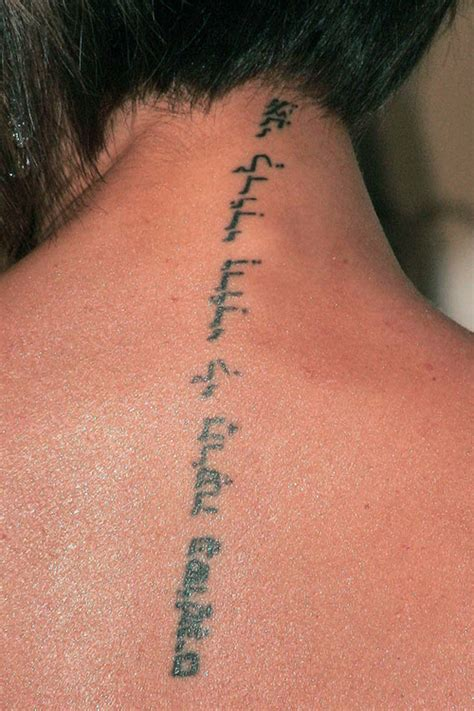 beckham tattoo back meaning celebrity hebrew tattoos steal her style