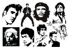 famous people stencils images  pinterest