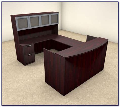 used l shaped desk used l shaped reception desk desk home design ideas