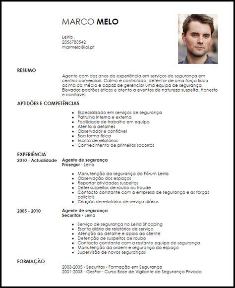 Modelo Curriculum Vitae Seguridad Privada Modelo Curriculum Vitae Agente De Seguran 231 A Livecareer