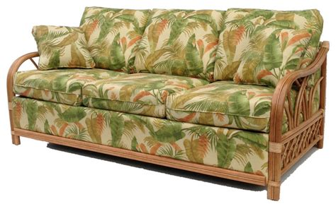 tropical couch naples collection rattan sleeper sofa tropical