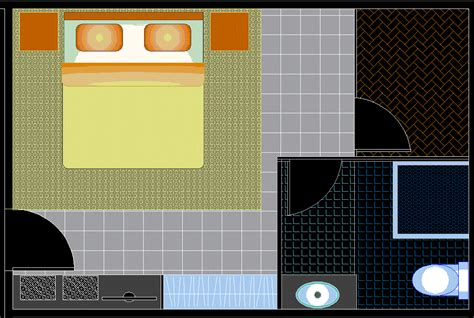hotel room design  auto cad dwg file