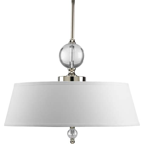 Home Depot Pendant Lighting Progress Lighting Fortune Collection Polished Nickel 3 Light Pendant The Home Depot Canada