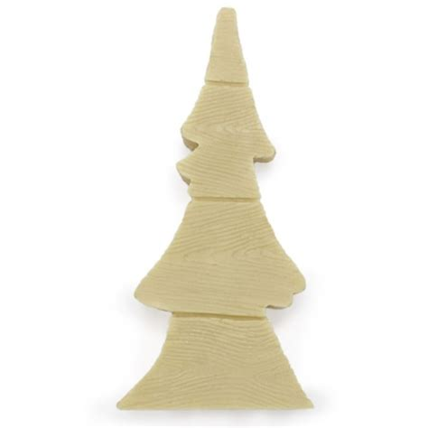 molde velas navidad 2d abeto madera plano