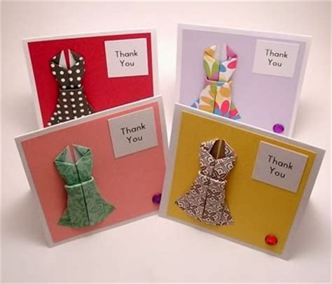 Origami Card Ideas - popular diy crafts how to make an origami dress cards
