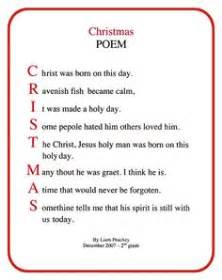 Christmas poems for church christmas acrostic poems for kids