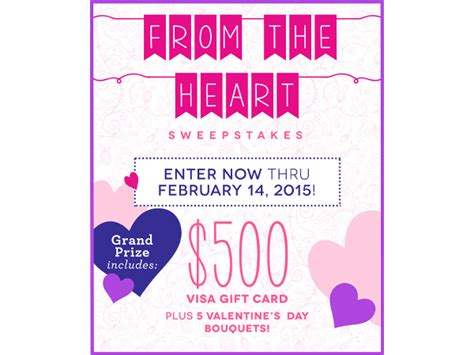 Send Flowers With Visa Gift Card - magazine gifts sweepstakes blissxo com