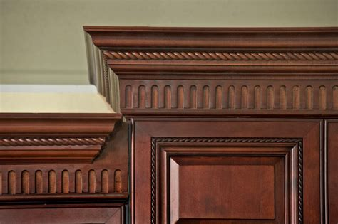 sophisticated crown moulding with dentil in kitchen design enhancements proselect