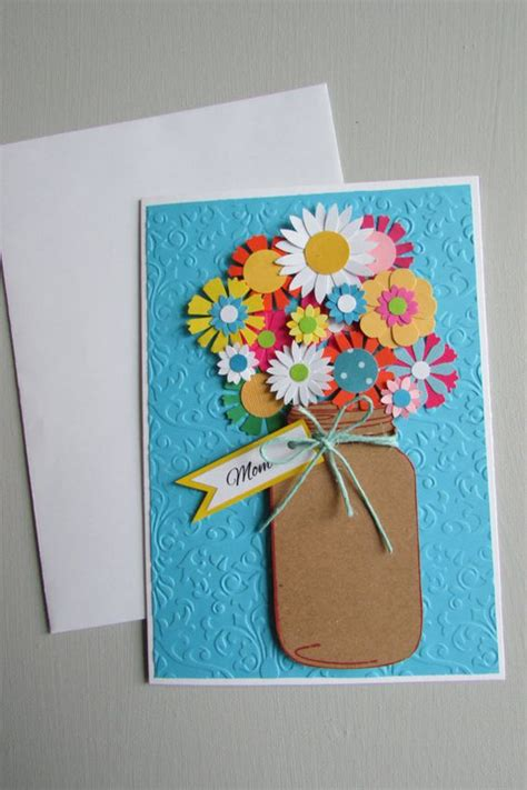 Day Handmade Greeting Cards - s day card jar cards greeting cards floral