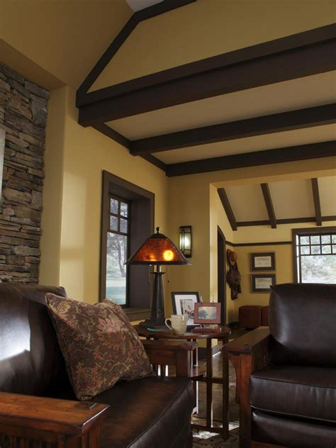craftsman interior design design a craftsman living room hgtv