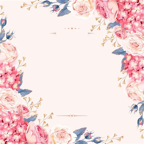 Vector Backgrounds With Roses For Invitations europeanstyle handpainted flowers wedding wedding