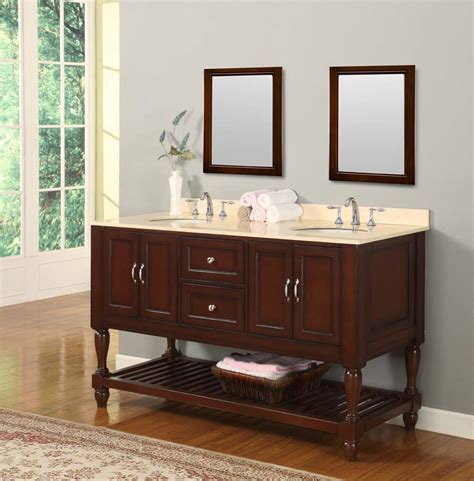70 Quot Mission Style Double Bathroom Vanity Sink Console With White Marble Top And