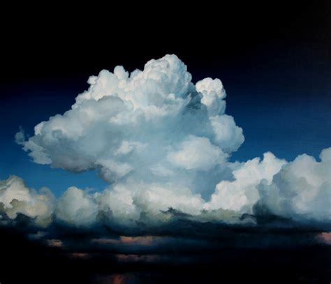 acrylic paint clouds nature cole gallery an artist s point of view