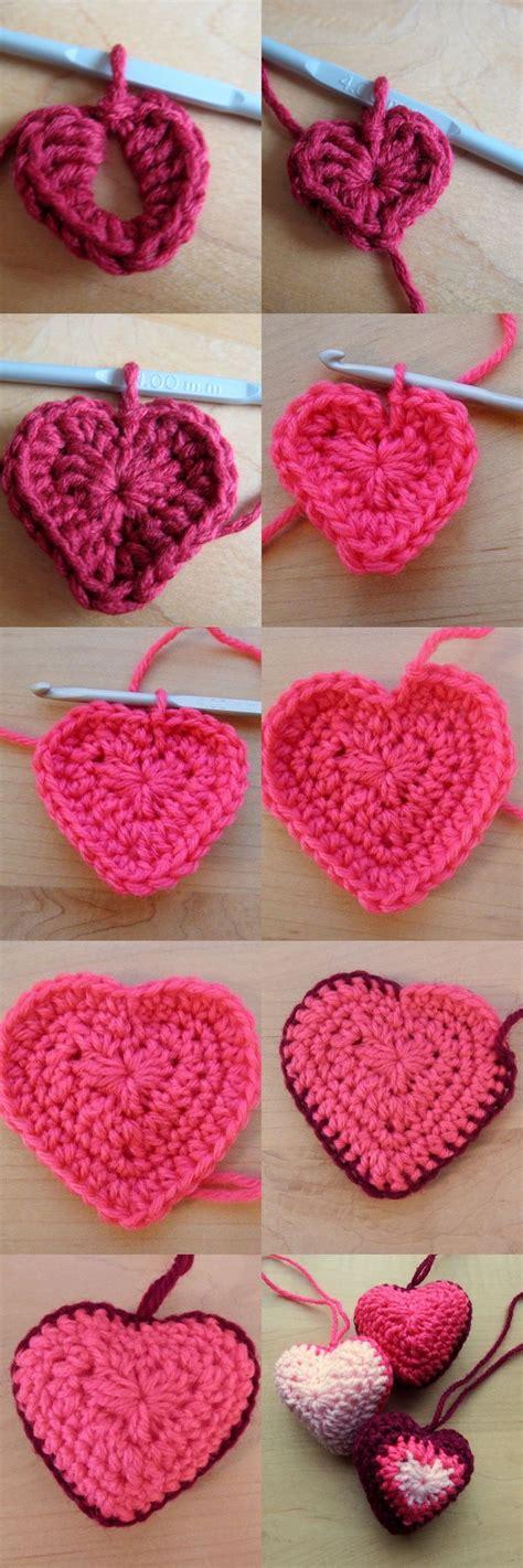 crochet heart pattern pinterest 31 best valentine crochet patterns images on pinterest