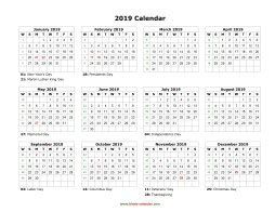 blank calendar 2019 | free download calendar templates