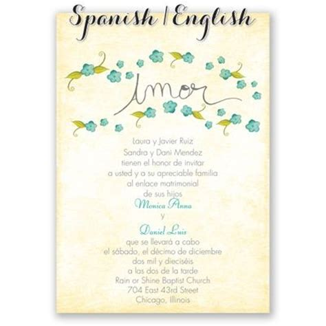 free printable wedding invitations in spanish peque 241 as flores spanish wedding invitation i print your