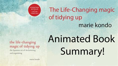 libro the life changing magic of animated summary the life changing magic of tidying up youtube