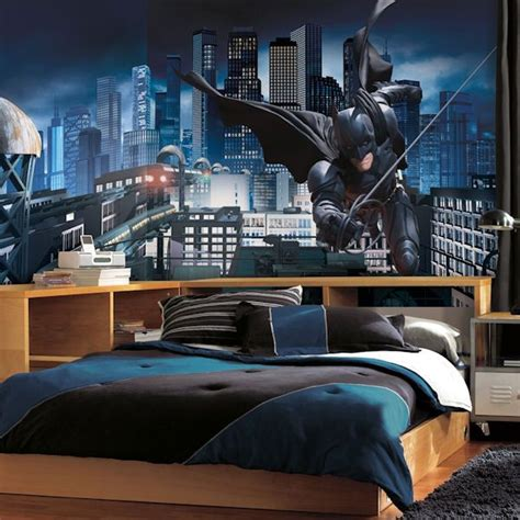 batman bedroom decor tips and ideas mural wall wall