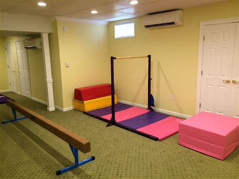 gymnastics themed bedroom basement remodel with a kids gymnastics area basement remodel pinterest