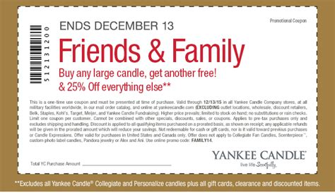 printable coupons for yankee candle 2015 yankee candle printable coupons promo codes page 3