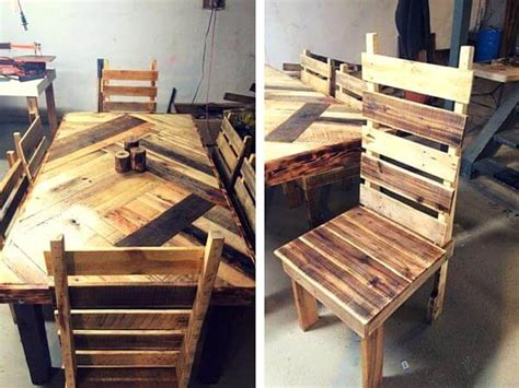 pallet dining room table build a pallet dining table with cross legs
