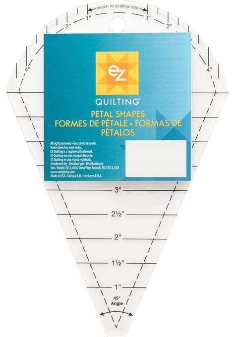 Quilting Rulers Templates by Ez Quilting Template 45 Petal Dresden