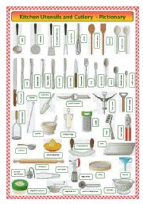 Kitchen Utensils Worksheet Pdf by Cutlery Worksheets