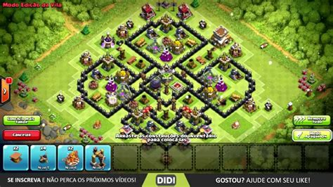 layout de cv 8 push layout farm push cv 8 th 8 layout clash of clans