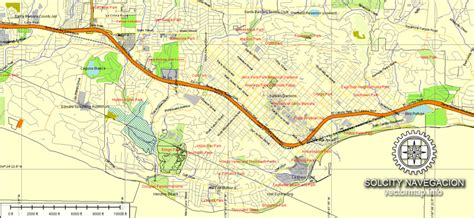 santa usa map santa barbara map ca printable vector atlas map