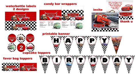 printable cars birthday decorations free printable disney cars birthday party invitations 1000