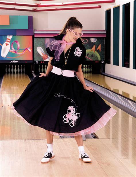 complete poodle skirt black pink plus